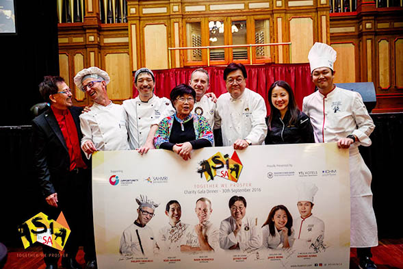 WahTong and Susan Lee with Chefs
